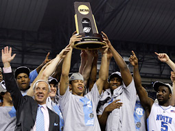 The North Carolina Tar Heels won the NCAA basketball championship and the night for CBS.
