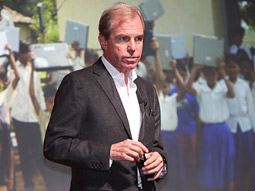 Nicholas Negroponte speaking at the Advertising Age/Creativity Idea Conference in New York.