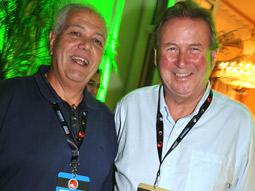 Jose Carlos Salles Neto (left), president of Wave festival organizer Grupo M&M, with Donald Gunn, founder of the Gunn Report, at the festival.