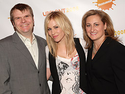 (L-R) Rob Stringer, chairman of Sony Music Label Group; Singer,Natasha Bedingfield; and Cyma Zarghami, president of Nickelodeon Kids and Family Group.