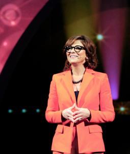 Nina Tassler at CBS's 2014 upfront presentation.