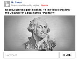 The Maytag plug-in blocks negative political content with images like this.