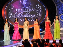 Univision will be promoting 'Nuestra Belleza Latina,' a Hispanic beauty/talent contest, at its upfront forums around the U.S. in April.