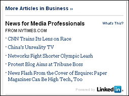While the story selection is based only on the LinkedIn member's industry classification, advertisers use all the information to target a select audience.