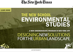 The New York Times has previously allowed interruptive screen takeovers further along in the online experience, but had never sold such ads in front of its own home page.