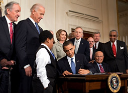 President Obama signed health-care reform into law March 23.