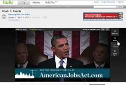 President Obama was the first political candidate to buy time on Hulu in 2008.