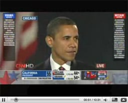 YouTube accounted for 98% of the views of Mr. Obama's speech of the 150-odd video-sharing sites Visible Measures keeps tabs on.