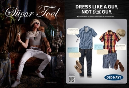 Videos for Old Navy's new push parody the 'Supar Tool' and 'Corporado' (watch the spots below)