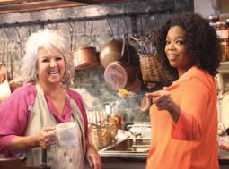 Paula Deen with Oprah Winfrey on 'Oprah's Next Chapter'