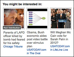 Outbrain's thumbnail widget on USA Today's website.
