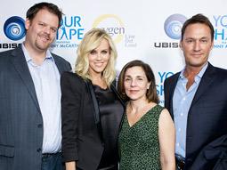 (from l.) Adam Novickas, director of Marketing, Ubisoft; Jenny McCarthy; Susan Malfa, senior VP-national advertising sales, Bravo and Oxygen; Michael Dupont, VP-national advertising sales, Oxygen