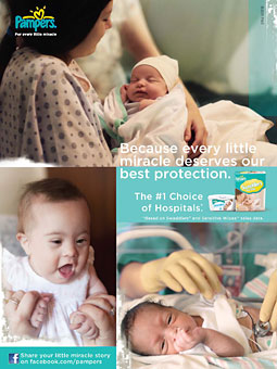 Pampers 'Miracles' campaign print ad