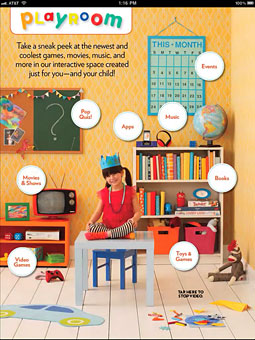 The interactive Playroom in Parents magazine's iPad edition.