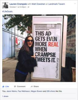 OAAA's campaign targeted individual agency executives, including Ogilvy & Mather CMO Lauren Crampsie.