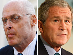 A number of communications specialists believe that Treasury Secretary Henry Paulson and President Bush did a poor job of communicating the impact the crisis and the bill would have on the average consumer's life.
