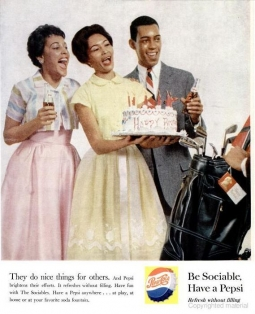 Pepsi ad from the Nov. 1959 issue of Ebony.