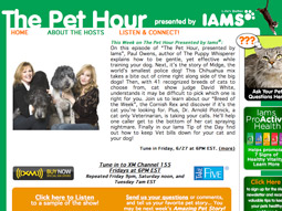 Iams has long integrated its brands into TV and radio shows, but now it is creating its own programs.
