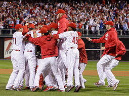The Phillies won the NLCS in five games again this year.
