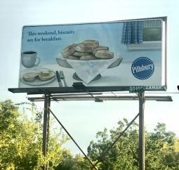 Pillsbury billboard in Tennessee