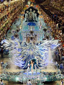 Samba school Portela at last year's parade in Rio's Sambadrome.