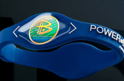 Power Balance bracelets feature holograms that are marketed to 'resonate with and respond to the natural energy field of the body.'