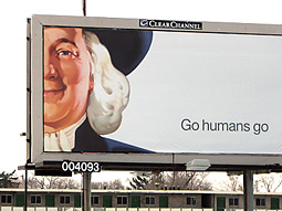 Teaser billboards with the Quaker man's face and the new tagline began appearing in select cities earlier this month.