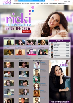 Ricki Lake's new show will try to get viewers talking in digital media -- partly on its own site.