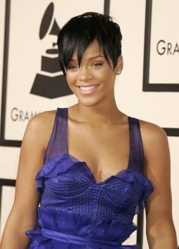 Rihanna at the Grammy Awards.