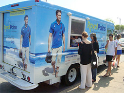 USA gave away free snow cones in 'Royal Pains'-branded ice-cream trucks.