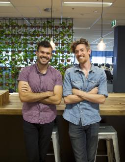 (L to R) Konrad Spilva, MD of Isobar Australia, and Dave Budge