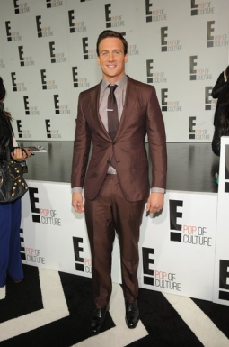Ryan Lochte arrives at E!'s upfront pitch.
