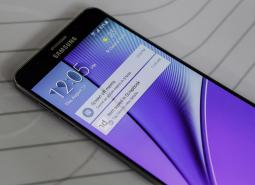The Samsung Galaxy S6 Edge Plus is displayed during the Samsung Unpacked 2015 event in New York in August.