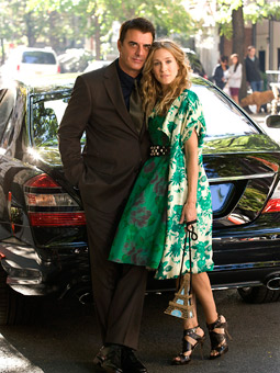 Chris Noth and Sarah Jessica Parker reprise their characters from the HBO series now making its way to the big screen.