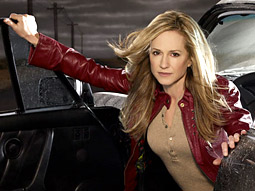 Holly Hunter's Grace Hanadarko: Drink that tequila, boink that drifter, and solve that case!