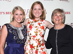 Women Doing Good honorees (from l.) Lindsay Guetschow, Erin Sprague and Beth Ann Levendoski.