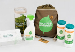 Seventh Generation's back-to-school kit, distributed through hundreds of mostly mommy bloggers through the MyBlogSpark network, includes an 'eco-friendly' backpack.
