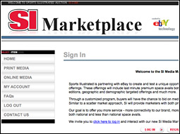 Sports Illustrated hopes that the online marketplace can help gather advertisers quickly for time-sensitive products such as commemorative issues.