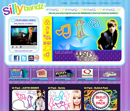 The Silly Bandz website.