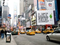 'The Sims 3' billboard in Times Square.