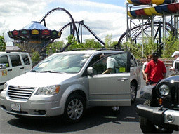 Chrysler, Jeep and Dodge vehicles will be displayed prominently at 10 Six Flags parks across the country this summer.