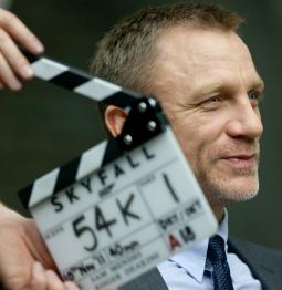 Daniel Craig on the set of 'Skyfall,' the next James Bond installment
