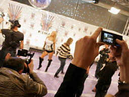 Sony Ericsson: Standing out at the MTV Europe Music Awards.