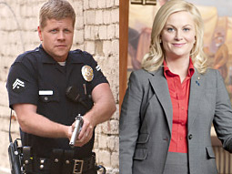 New shows 'Southland' and 'Parks and Recreation' helped lead NBC to tie CBS for first place on Thursday night.