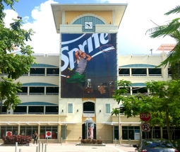A Sprite billboard in Miami.