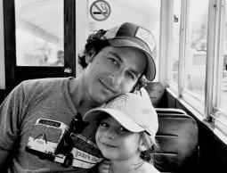 Stephen Goldblatt, with his daughter