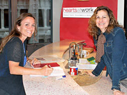 Geri Vena-Shores (left) and Cindy Stone are co-chairs of AbelsonTaylor's Hearts AT Work CSR program.
