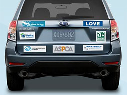 With Subaru's 'Share the Love' push, consumers who buy or lease a new Subaru from Nov. 24 through Jan. 2 can pick one of five charities to receive a $250 donation from the automaker.