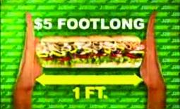 Everyone knows the $5 Footlong tune.