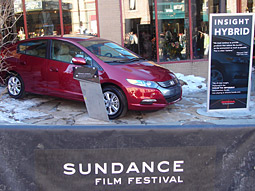 Honda showed off the Insight Hybrid to the uber-environmentally conscientious Hollywood crowd.